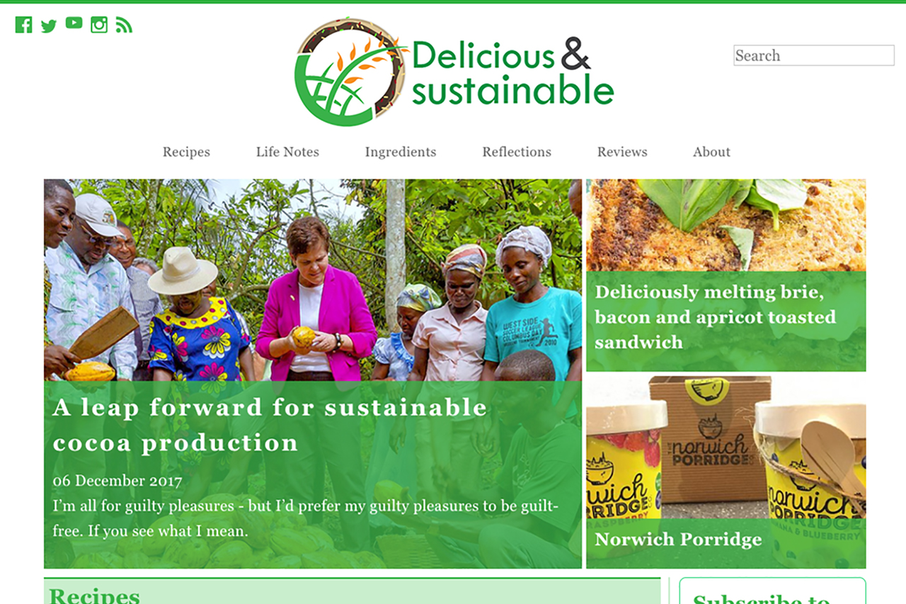 Delicious and Sustainable Blog